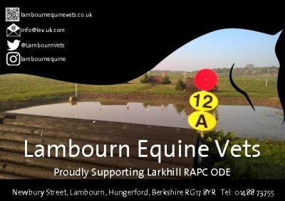 Lambourn Equine Vets  sponsors ROYAL ARTILLERY BRANCH OF THE PONY CLUB HORSE TRIALS – Pony Club & Open Classes